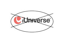 iUniverse crossed out